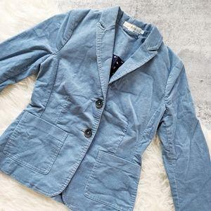 Boden women's corduroy blazer light blue 2P petite